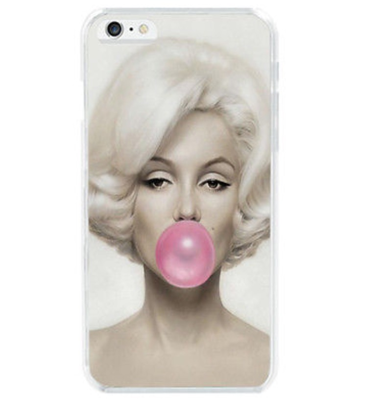 Kryt Marilyn Monroe Pink bubble  na Iphone 5/5S/SE