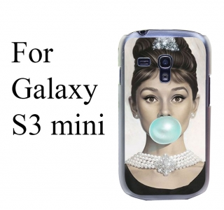 Kryt Audrey Hepburn Blue bubble na Samsung galaxy S3 mini
