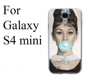 Kryt Audrey Hepurn Blue Bubble na Samsung galaxy S4 mini