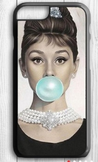 Kryt Audrey Hepburn  Blue bubble pro Iphone 4/4S